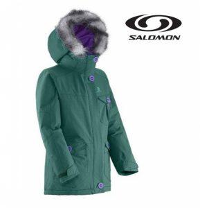 Salomon® Casaco Júnior | Verde | Impermeável | Isolamento do Frio
