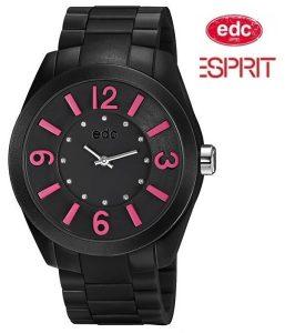 Relógio EDC by Esprit® Rising Sun Midnight Black Pink | 3ATM