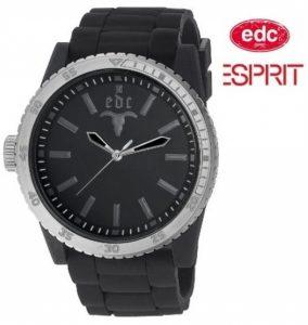 Relógio EDC by Esprit® Rubber Star Midnight Black Silver | 3ATM