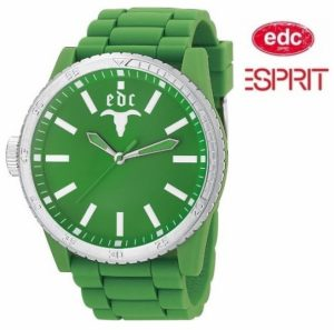 Relógio EDC by Esprit® Rubber Star Waterfall Green | 3ATM