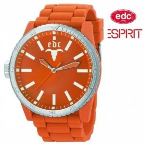 Relógio EDC by Esprit® Rubber Star Orange | 3ATM