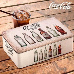 Caixa Metálica Vintage Coca-Cola
