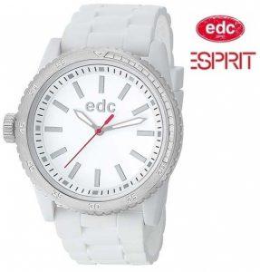 Relógio EDC by Esprit® Rubber Starlet Pure White | Silver | 3ATM