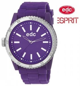 Relógio EDC by Esprit® Rubber Starlet Crazy Purple | 3ATM
