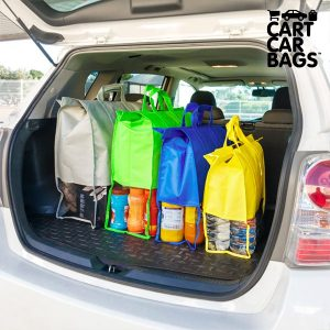 Pack de 4 Sacos Organizadores Para as Compras e Mala Cart Car Bags