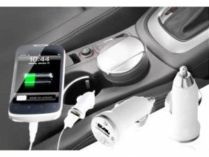 Pack 2 Mini Carregador Adaptador USB Para Carro