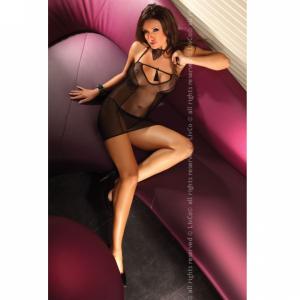 Hagar Livco Corsetti Vestido Escuro Transparente L/XL