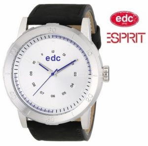 Relógio EDC by Esprit® Genuine Star Midnight Black Silver | 3ATM