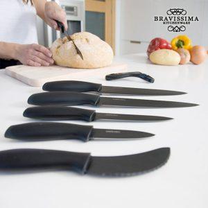 Facas Cerâmicas Profissionais Bravissima Kitchen Titanium | 7 Peças