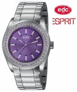 Relógio EDC by Esprit® Disco Glam Steel Purple | 3ATM