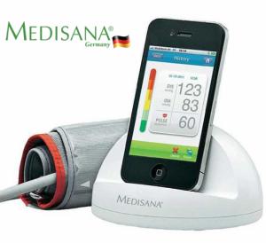 Medidor de Tensão Arterial | Para Iphone, Ipod Touch e Ipad | Medisana Cardio Dock IHealth