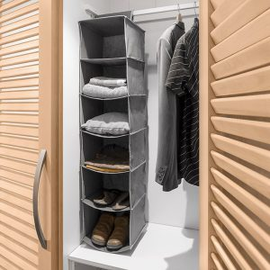 Organizador de Tecido Para Pendurar | 6 Compartimentos