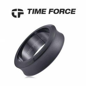 Time Force® Anel Masculino Prateado Aço 19,7mm TS5027S22