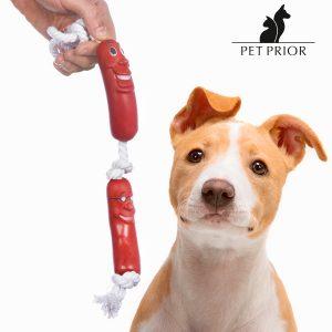 Corda com Salsichas Brinquedo Para Cães Pet Prior