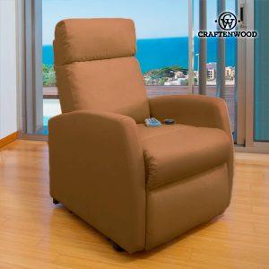 Poltrona Relax Massajadora Craftenwood Compact Camel 6019