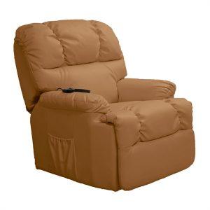 Poltrona Relax Elevatória Com Massagem Craftenwood Camel 6010