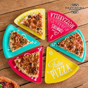 Pratos Para Pizza Colors Bravissima Kitchen | 6 Peças