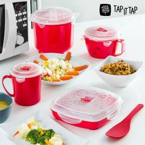 Set 11 Peças de Cozinha a Vapor Para Microondas