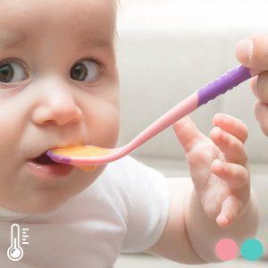 Colheres Para Bebé Com Sensor De Calor | Conjunto De 2 | Disponível Em 2 Cores!