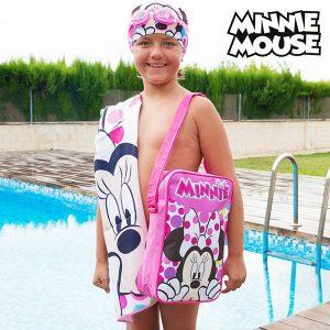 Kit de Piscina Minnie  | Toalha | Touca | Óculos Natação | Mochila !