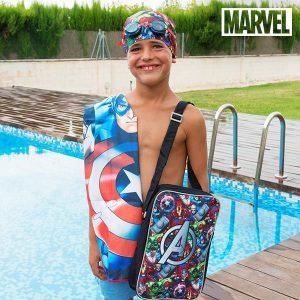 Kit de Piscina Avengers | Toalha | Touca | Óculos Natação | Mochila !
