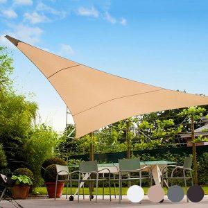 Toldo Vela de Sombra Triangular | 5 Metros | Disponível Em 4 Cores