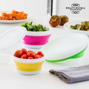 Recipientes Para Comida Dobráveis Bravissima Kitchen | 3 Peças