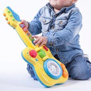 Guitarra Infantil Com Luzes E Som