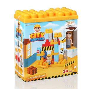 Jogo De Blocos De Construção City | 34 Peças