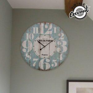 Relógio de Parede France Vintage Coconut