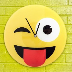 Relógio De Parede Emoticon Piscadela