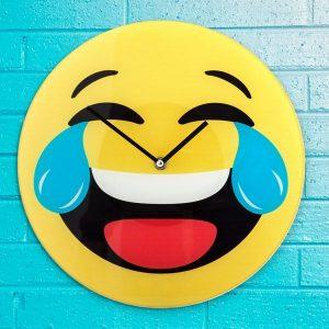 Relógio De Parede Emoticon Sorridente
