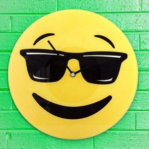 Relógio De Parede Emoticon Cool