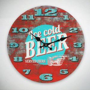 Relógio De Parede Ice Cold Beer