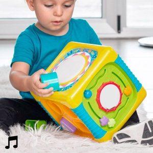 Cubo de Atividades Com Luz e Som Para Bebés