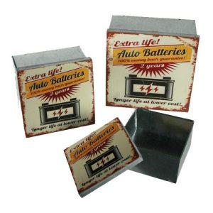 Caixas De Metal Vintage | Conjunto 3 Peças | 6 Diferentes Modelos