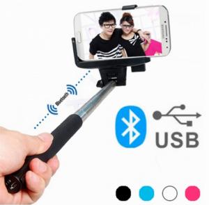 Monopé Selfies Bluetooth com Bateria Recarregável