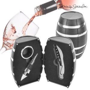 Barril Com Acessórios De Vinho Summum Sommelier | 3 Peças