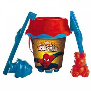 Spiderman | Marvel | Balde De Praia Com Moldes | Produto Licenciado