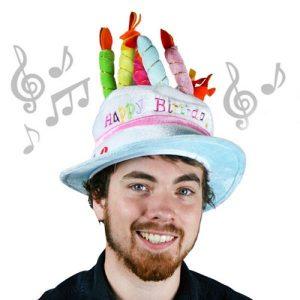 Chapéu Musical De Aniversário | Disponível Em Várias Cores | Enviado Aleatoriamente!