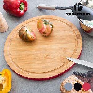 Tábua De Cozinha Circular Em Bambu TakeTokio | Disponível Em 3 Cores!
