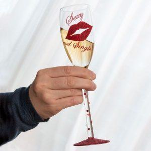 Copo De Champanhe Sexy And Single