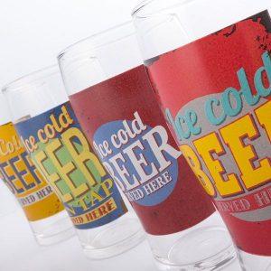 Pack 2 Copos de Cerveja Ice Cold Beer 500ml | Disponível Em Vários Modelos | Enviado Aleatoriamente