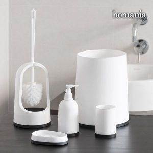 Acessórios De Casa De Banho Black & White Homania | 5 Peças