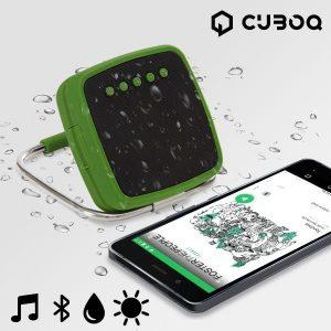 Altifalante Bluetooth Portátil CuboQ Solar Power | Cartão MicroSD