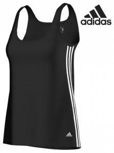 Adidas® Caveada Essentials 3S Tank Preto   Tecnologia Climalite®