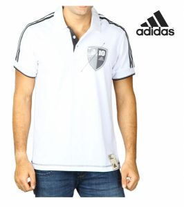 Adidas® Polo Number Ten Branco | Cotton