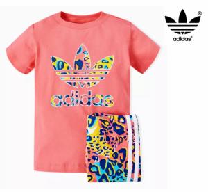 Adidas® T-Shirt + Leggins De Criança Retro Rosa