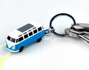 Porta-Chaves em Forma de Carrinha VW com Luzes LED !