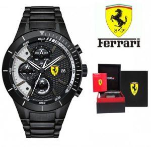 Relógio Ferrari® Scuderia Sport Chrono Analog Black   5ATM